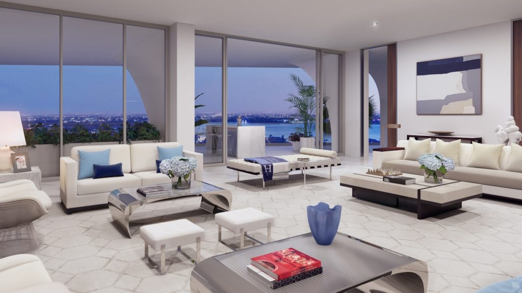 Jade Signature Upper Penthouse Living Room